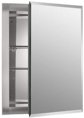 """Kohler 16"""" x 20"""" Recessed Frameless Medicine Cabinet with 2 Adjustable Shelves"""