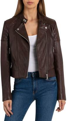 Bagatelle NYC Quilted Lamb Leather Motorcycle Jacket