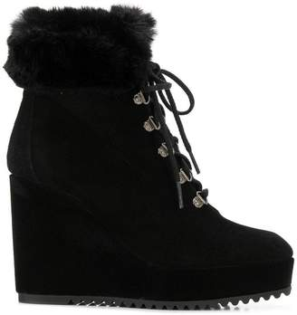 Castaner lace-up wedge boots