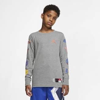 Nike Big Kids' (Boys') Long-Sleeve T-Shirt Jordan Jumpman