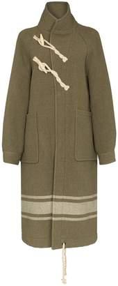 Hyke high neck duffle coat