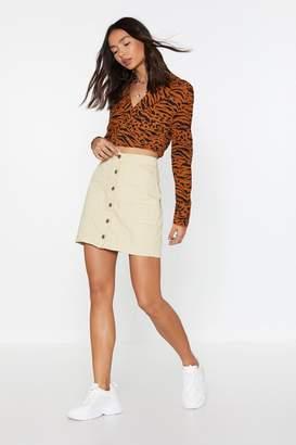 159ab209b4d17 Nasty Gal It's Going Button-Down Mini Skirt
