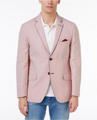 Ben Sherman Men's Slim-Fit Red Pinstripe Cotton Sport Coat $295 thestylecure.com