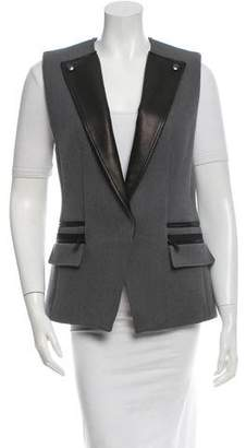 Rebecca Taylor Leather-Accented Vest