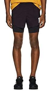 "Satisfy Men's ""Run Away"" Short-Distance Running Shorts - Dk. Purple"