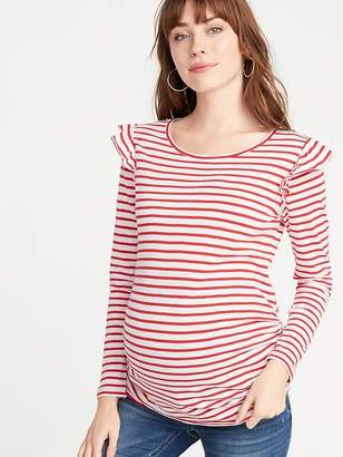 Old Navy Maternity Patterned Ruffle-Shoulder Top