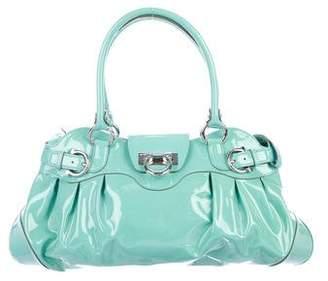 Salvatore Ferragamo Patent Leather Gancio Lock Bag