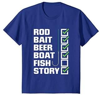 story. Funny Fishing T-Shirt - Rod Bait Beer Boat (No) Fish