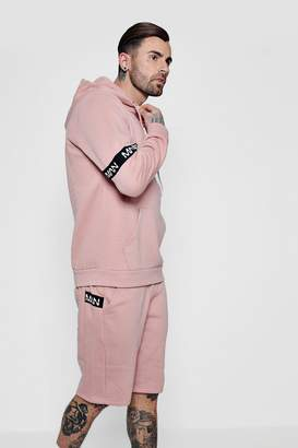 boohoo MAN Band Over The Head Short Tracksuit