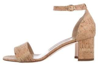 Manolo Blahnik Cork Ankle-Strap Sandals