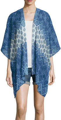 ARIZONA Arizona 3/4 Sleeve Pattern Kimono Juniors $26 thestylecure.com