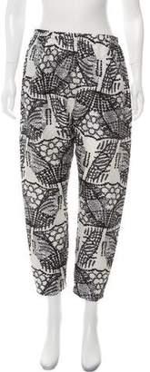 Zero Maria Cornejo Silk Patterned Pants