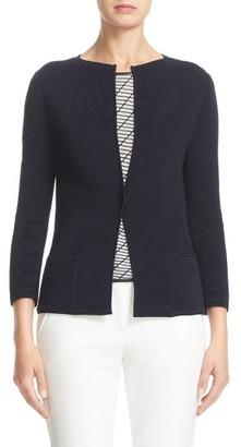 Women's Armani Collezioni Ottoman Knit Cardigan $1,195 thestylecure.com