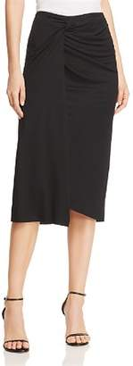 Kenneth Cole Twisted Faux-Wrap Skirt