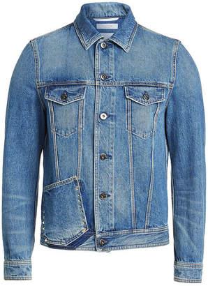 Valentino Denim Jackets with Rock Stud Detail