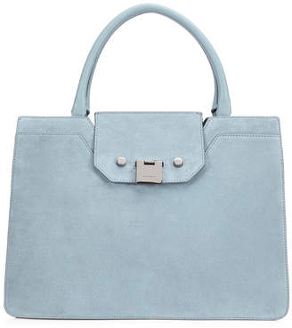 Jimmy Choo REBEL TOTE Aqua Suede Tote Bag
