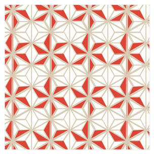 Pinwheel Snowflake Self-Launch Wrapping Paper