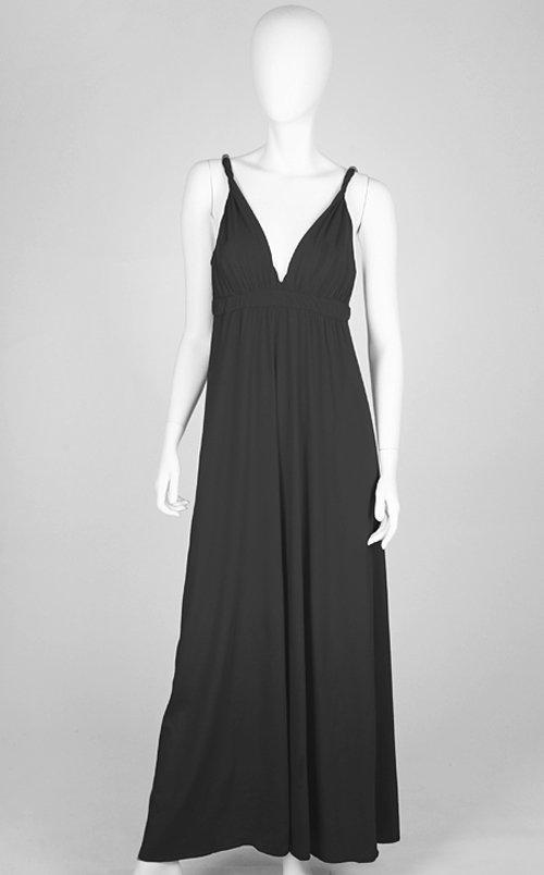 Gypsy 05 Solid Maxi Dress in Black