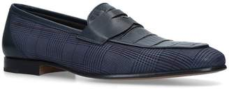 Stemar Checked Penny Loafers