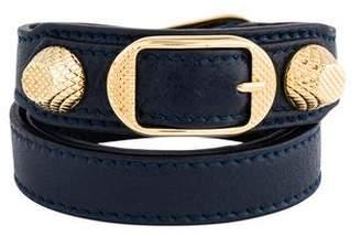 Balenciaga Double Wrap Buckle Stud Bracelet