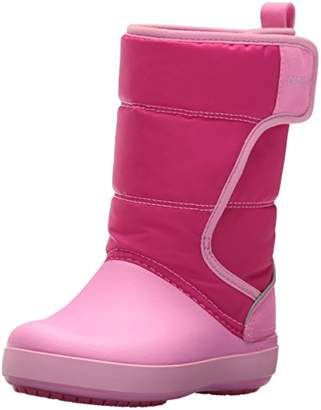 Crocs Kids' LodgePoint Snow Boots Candy Party Pink, Child (C13 US)