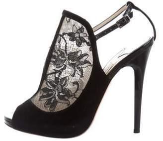 Jimmy Choo Lace Slingback Sandals Black Lace Slingback Sandals