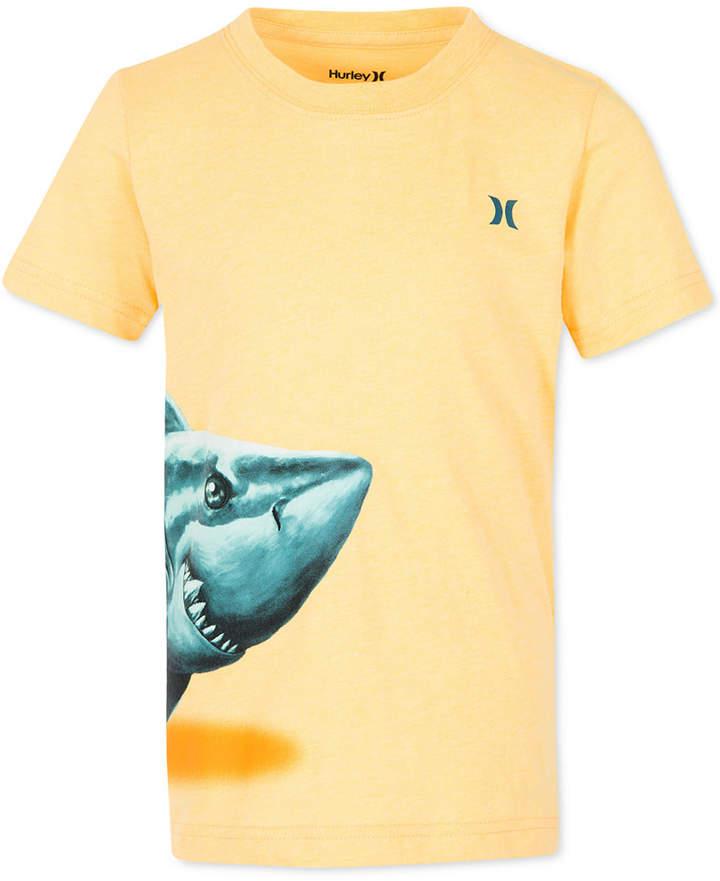 Shark-Print Cotton T-Shirt, Little Boys