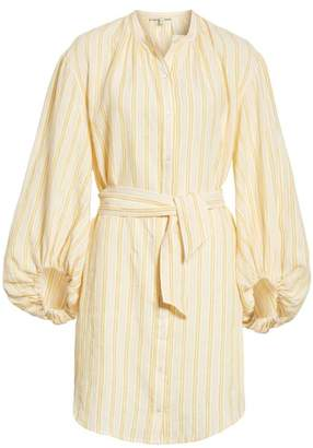 Joie Beatrissa Balloon Sleeve Stripe Linen Shirtdress