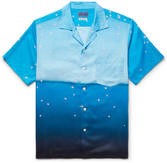Blue Blue Japan Camp-Collar Printed Lyocell Shirt