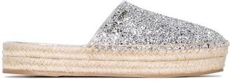 Miu Miu slip-on glitter espadrilles