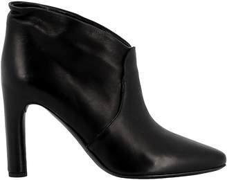 Roberto Del Carlo Black Leather Ankle Boots