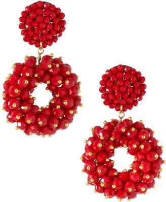 Panacea Crystal Cluster Drop Earrings