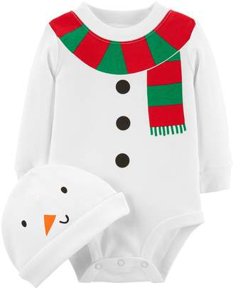 Carter's Baby Snowman Graphic Bodysuit & Hat Set