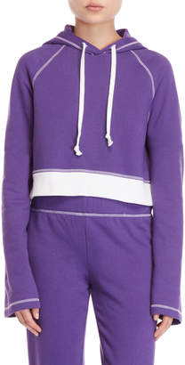 Juicy Couture Cropped Fleece Pullover Hoodie
