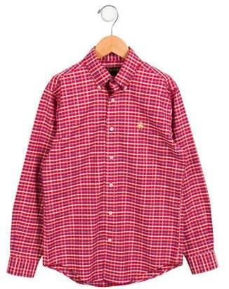 Brooks Brothers Boys' Plaid Button-Up Shirt