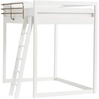 Pottery Barn Teen Waverly Loft Bed, Twin, Water-Based Simply White