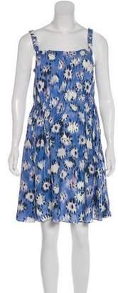 Thakoon Printed Silk Mini Dress