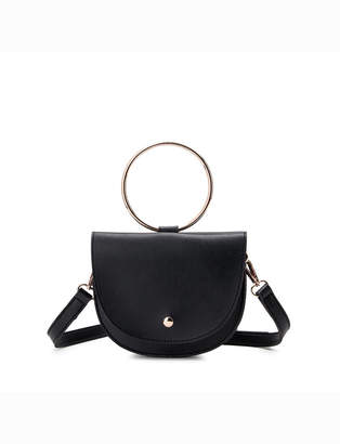 ELOQUII Metal Ring Handbag