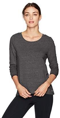 Danskin Women's Wide-Neck Hi Low Pullover