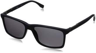 HUGO BOSS BOSS by Men's B0704PS Polarized Rectangular Sunglasses