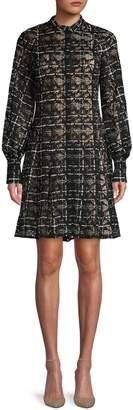 Oscar de la Renta Textured Cotton Blend A-Line Dress
