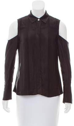 Alexis Cold-Shoulder Button-Up Top w/ Tags