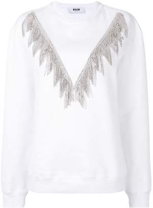 MSGM chain embellished jumper