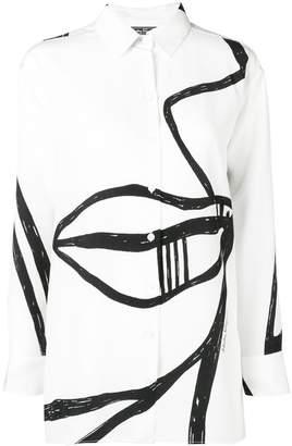 Salvatore Ferragamo 'Visage' print shirt