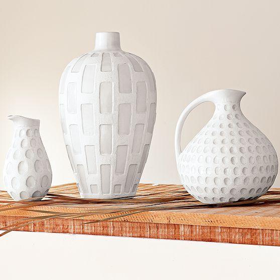 Textured White Vessels