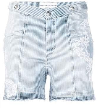 Ermanno Scervino embroidered striped shorts