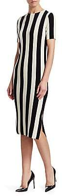Akris Punto Women's Striped Wool Midi Dress