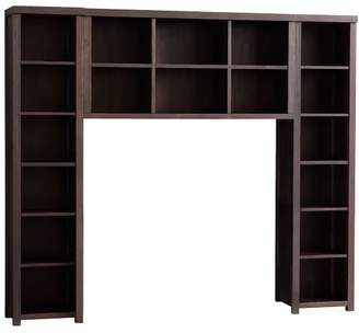 Pottery Barn Teen Costa Bookcase And Double Hutch Set, Queen, Java