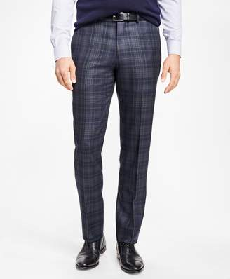 Brooks Brothers Regent Fit Navy and Green Plaid Trousers