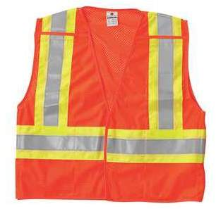 ML KISHIGO Breakaway Hi Vis Vest,Class 2,2XL,Orange 1176-2X